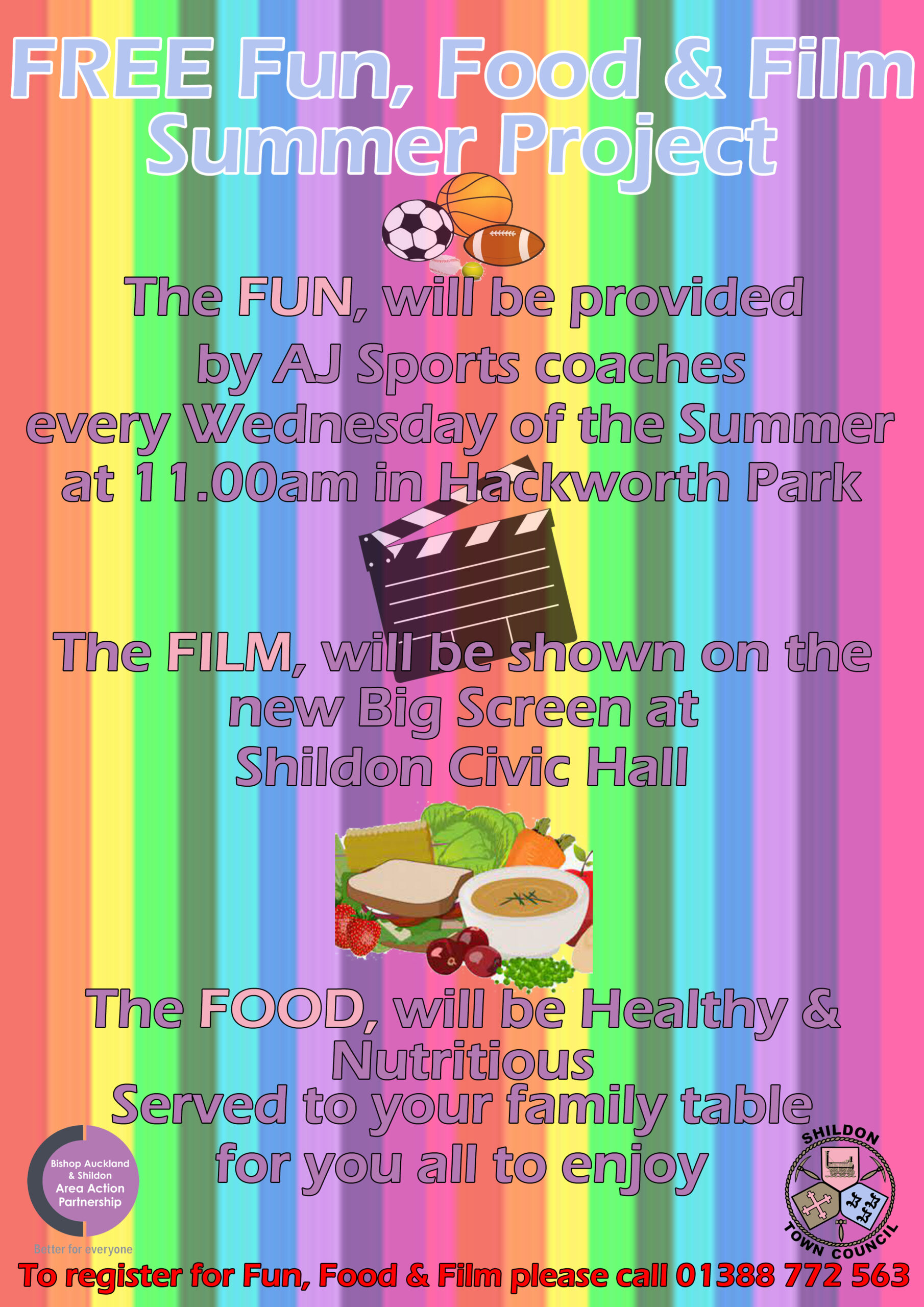 Poster of Fun, Food and Film Summer Project