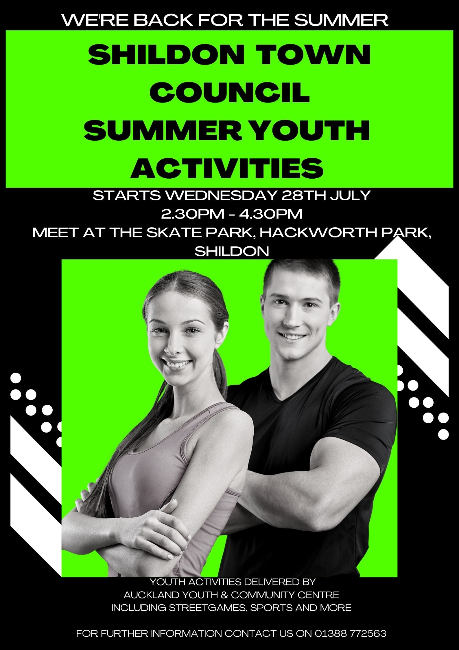 Poster for Summer Youth Activities Drop-In sessionn
