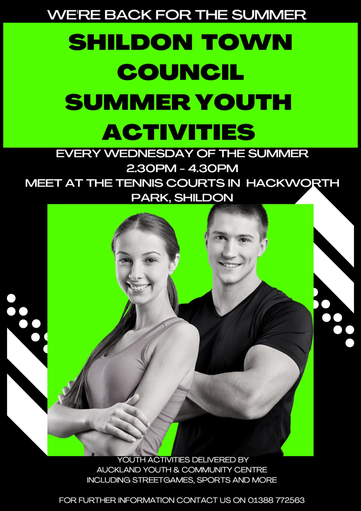 Image of poster for summer youth activities in Hackworth Park