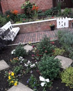 Image of garden with seating