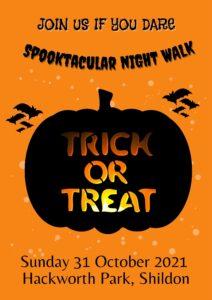 Image of Shildon Town Councils Spooktacular Walkthrough and spooky Disco Poster